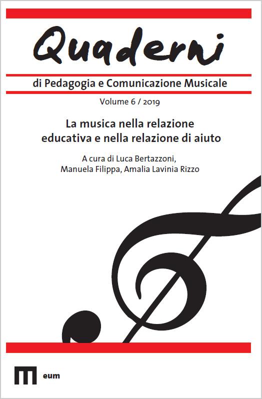 """""""Quaderni di Pedagogia e Comunicazione musicale"""" a cura di Luca Bertazzoni"""